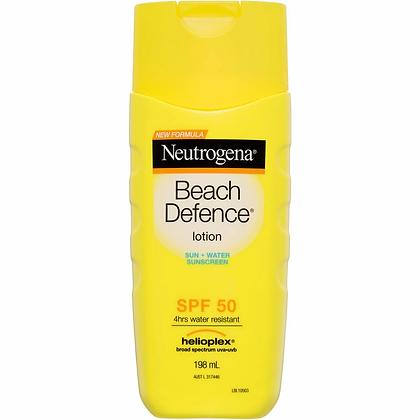 Neutrogena Beach Defence Sunscreen Water + Sun Barrier Lotion Spf 50 198ml