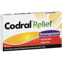 Codral Cold Relief Decongestant Tablets 20 pack