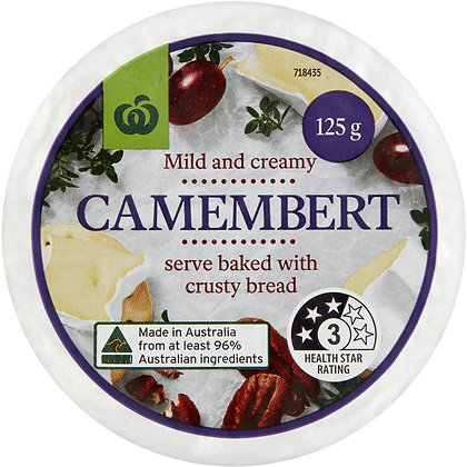 Woolworths Camembert Cheese 125g