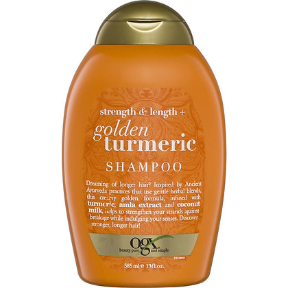 Ogx Strength & Length Golden Turmeric Shampoo 385ml