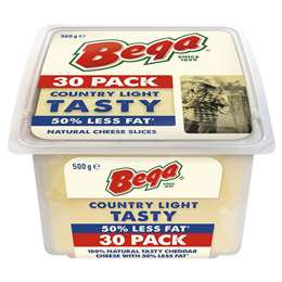 Bega So Light 50% Reduced Fat Cheese Slices 30 pack