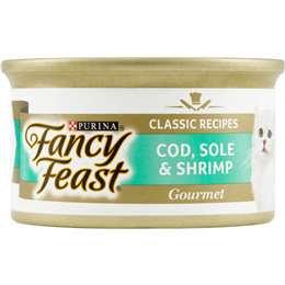 Fancy Feast Adult Cat Food Gourmet Cod Sole & Shrimp 85g