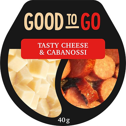 Angas Park Good To Go Tasty Cheese & Cabanossi 40g