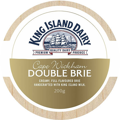 King Island Cape Wickham Double Brie Cheese 200g