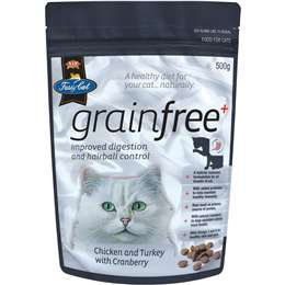 Vip Fussy Cat Grainfree Adult Cat Food Chicken Turkey & Cranberry 500g