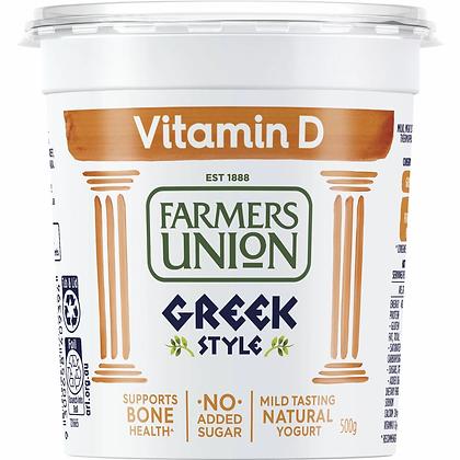 Farmers Union Greek Style Vitamin D Yoghurt 500g