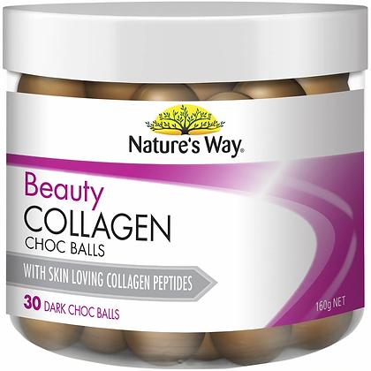 Nature's Way Beauty Collagen Dark Choc Balls 30 pack