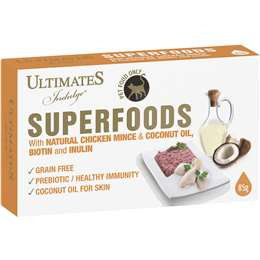 Ultimates Cat Superfoods Chicken Mince & Coconut Oil Biotin & Inulin 85g