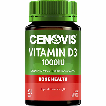 Cenovis Vitamin D3 1000iu Tablets 200 pack