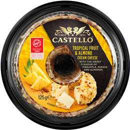 Castello Tropical Fruit And Almond Cream Cheese 125g