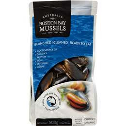 Boston Bay Mussels Cooked 500g