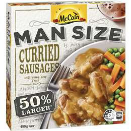 Mccain Man Size Curried Sausages 480g