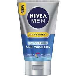 Nivea Men Active Energy Face Wash Gel 100ml