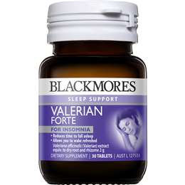 Blackmores Sleep Support Valerian Forte Tablets 30 pack