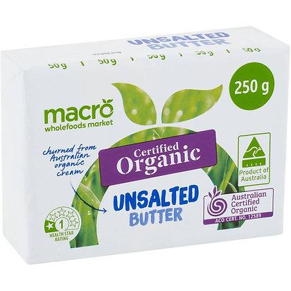 Macro Organic Unsalted Butter 250g