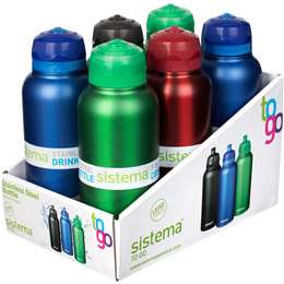 Sistema Drink Bottle Stainless Steel 600ml each