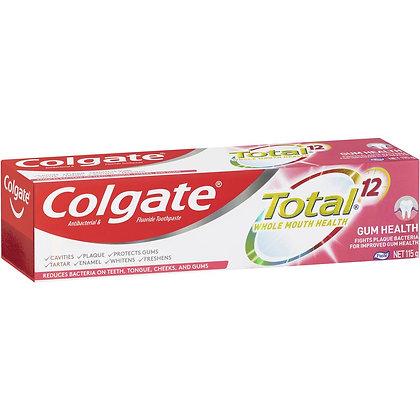 Colgate Total Gum Health Antibacterial Fluoride Toothpaste 115g