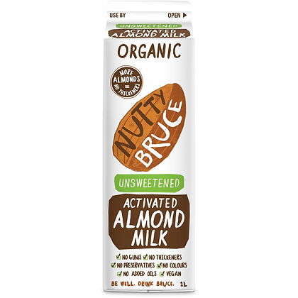 Nutty Bruce Unsweetened Almond Milk 1l