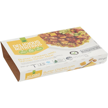 Woolworths Butter Chicken With Wholegrain Rice 350g