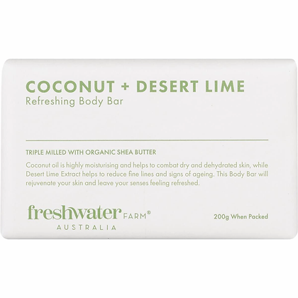 Freshwater Farm Australia Coconut & Desert Lime Refreshing Body Bar 200g
