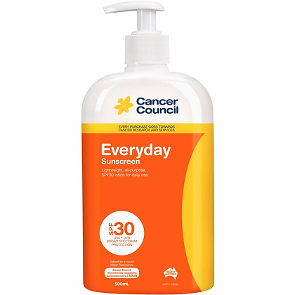Cancer Council Spf 30+ Sunscreen Everyday 500ml
