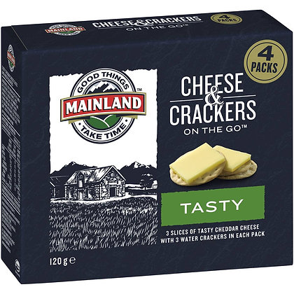 Mainland On The Go Tasty Cheese And Crackers 4 pack