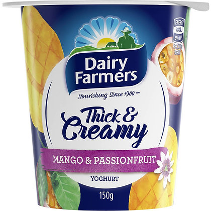 Dairy Farmers Thick & Creamy Mango & Passionfruit Yoghurt 150g