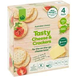 Woolworths Tasty Cheese & Crackers 4 pack
