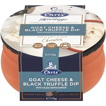Chris' Heritage Goat Cheese & Black Truffle Dip 170g