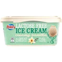 Peters Lactose Free Ice Cream Creamy Vanilla 1.2l tub