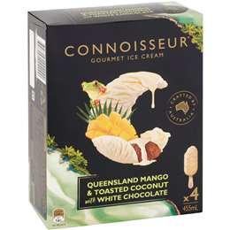 Connoisseur Mango & Coconut Ice Cream 4 pack