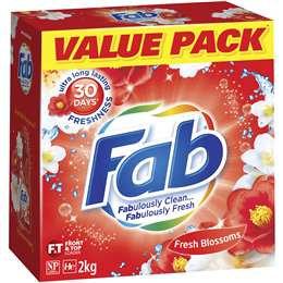 Fab Laundry Powder Sunshine Fresh 2kg