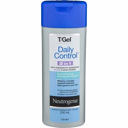 Neutrogena T Gel Anti Dandruff Shampoo & Cond Daily Control 200ml