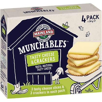 Mainland Munchables Tasty Cheese & Crackers 4 pack
