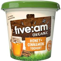 Five:am Organic Honey & Cinnamon Yoghurt 700g