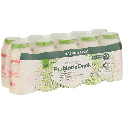 Woolworths Probiotic Drink 10x63ml