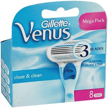 Gillette Venus Smooth  Razor Blade Refills 8 pack