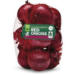Fresh Red Onion 1kg bag