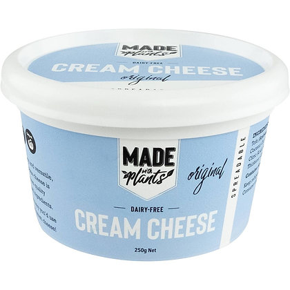 Made With Plants Dairy Free Original Cream Cheese Spreadable 250g