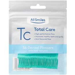 All Smiles Dental Floss Total Care Pro Floss Picks Mint 36 pack