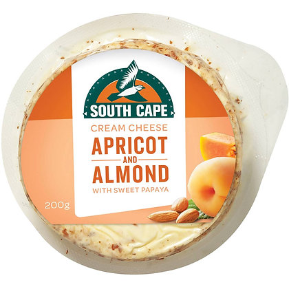 South Cape Apricot & Almond Cream Cheese 200g