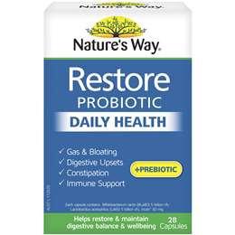 Nature's Way Restore Daily Probiotic Capsules 28 pack
