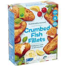 Select Crumbed Fish Fillets 425g