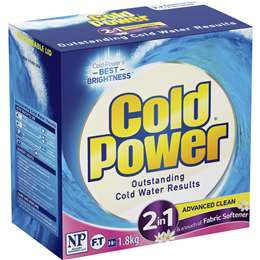 Cold Power 2 In 1 Advanced Clean Fabric Softener 1.8kg