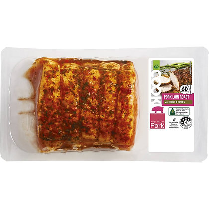 Woolworths Cook Pork Loin Roast With Herbs & Spices 500g - 750g