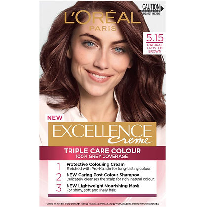 L'oreal Excellence Creme Hair Colour 5.15 Natural Frosted Brown each