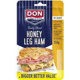 Don Ham Leg Honey Roasted Shaved 250g
