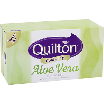 Quilton Gold 4 Ply Tissues Aloe Vera 100 pack