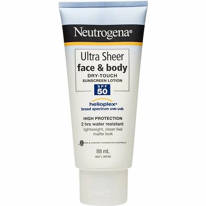 Neutrogena Neutrogena Ultra Sheer Face Lotion Spf 50+ Sunscreen 88ml