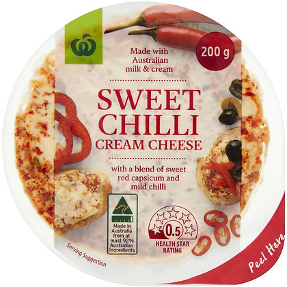 Woolworths Sweet Chilli Cream Cheese 200g